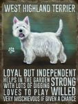 Vintage Style Metal Wall Kitchen Sign Retro West Highland Terrier Dog Lover Gift